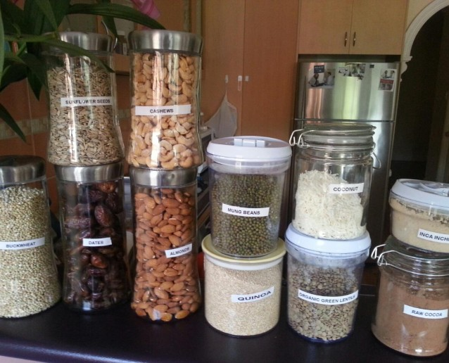 containers nuts and seeds