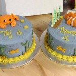 Naturally coloured cakes